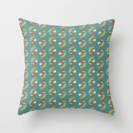 Fish A Cat Fish Cat Throw Pillow