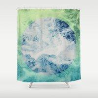 splash Shower Curtains featuring Splash by Leah Flores