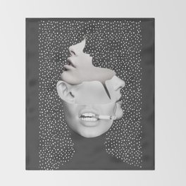 collage art / Faces 2 Throw Blanket