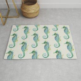 Seahorse: Green Natural Rug