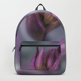Hosta Flower Bud Purple And Green Backpack