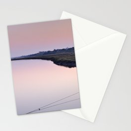 Water. Pedras del Rei. Pink sunset Stationery Cards