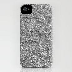 SILVER GLITTER Slim Case iPhone (4, 4s)