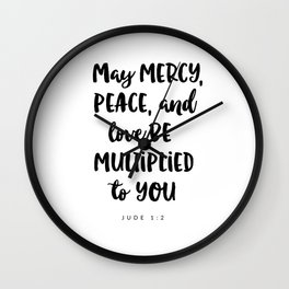 Jude 1:2 - Bible Verse Wall Clock