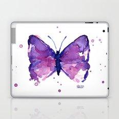 Butterfly Purple Watercolor Animal Laptop & iPad Skin