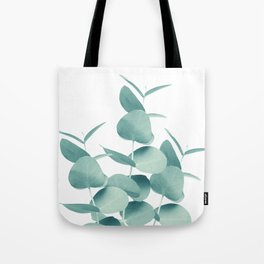 Eucalyptus Leaves Green White #1 #foliage #decor #art #society6 Tote Bag