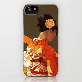 Polygonal kimono girl iPhone Case