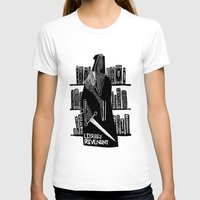 library T-shirts featuring Library Revenant by Sam Mameli