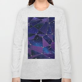 Interstellar Network Pattern Long Sleeve T-shirt