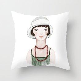 Louise Belle Epoque Throw Pillow