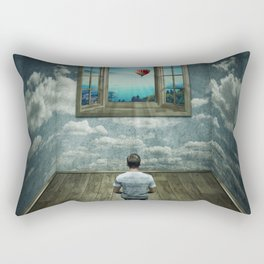 abstract window Rectangular Pillow
