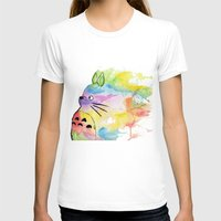 rainbow T-shirts featuring My Rainbow Totoro by scoobtoobins