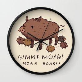 moar boars Wall Clock