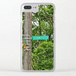 Schneider Street Clear iPhone Case