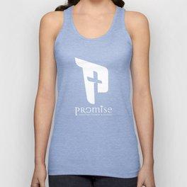 promise logo white Unisex Tank Top