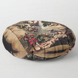 Medieval Minstrel Spirits Floor Pillow