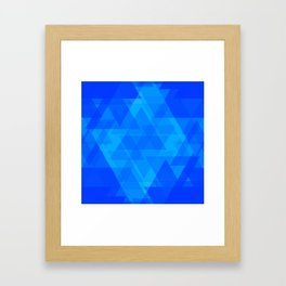 Bright blue and celestial triangles in the intersection and overlay. Framed Art Print