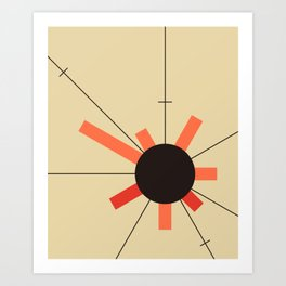paper sun || straw Art Print