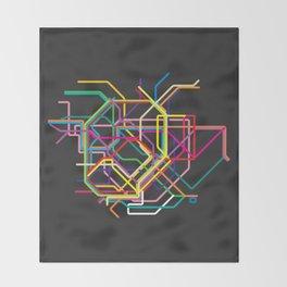 tokyo metro map Throw Blanket