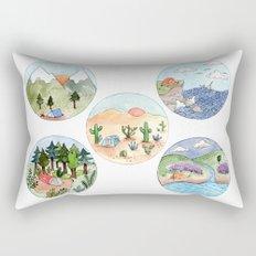 Campsite Selection Rectangular Pillow