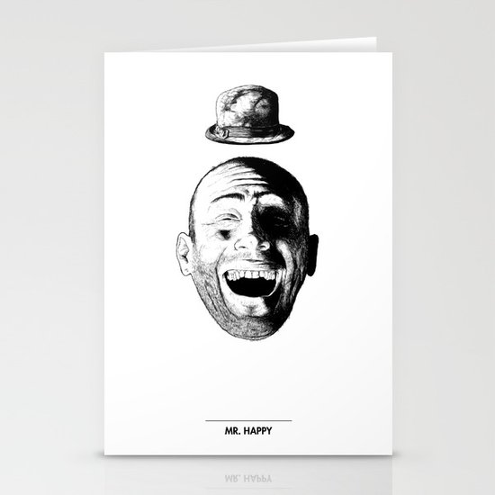 Mr. Happy Stationery Cards