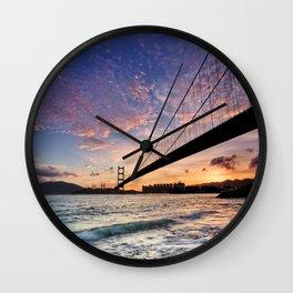 Sunset Bridge Wall Clock