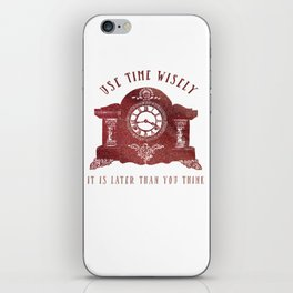 Timewise Vintage Clock iPhone Skin