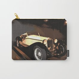 1930s Cream Vintage Car | Automobile | Old Convertible Carry-All Pouch