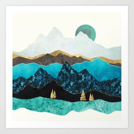 Teal Afternoon Art Print