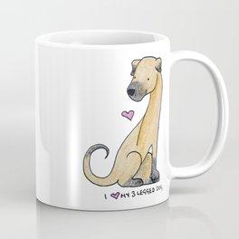 I Love My 3-Legged Dog Coffee Mug