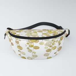 golden string of pearls watercolor 2 Fanny Pack