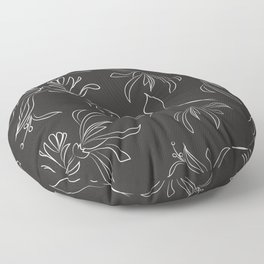 Hand Drawn Floral Floor Pillow