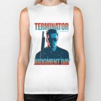 terminator Biker Tanks featuring Terminator 2 - Alternative Poster by Lorenzo Imperato