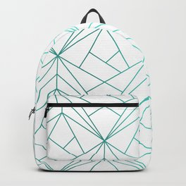 Geometric Turquoise Pattern Backpack