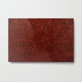 Rusty leather background textured abstract Metal Print