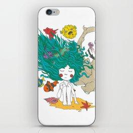 Sea Girl iPhone Skin