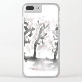 The landscape forest, abstract Clear iPhone Case