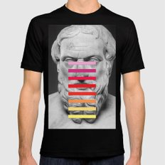 Sculpture With A Spectrum 2 Black Mens Fitted Tee MEDIUM