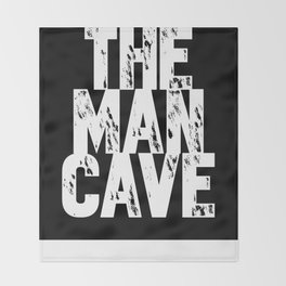The Man Cave - inverse Throw Blanket