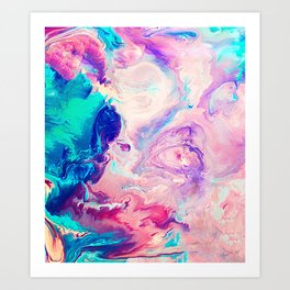 Ice Paint Art Print