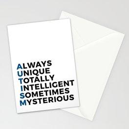 Autism Autistic Unique Intelligent Mysterious Stationery Cards