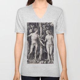 Adam and Eve by Albrecht Dürer Unisex V-Neck