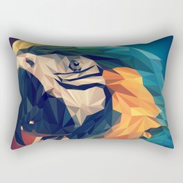 Parrot Head Illustration (Vector) Rectangular Pillow