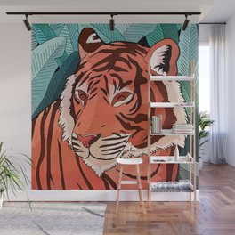Tiger in the jungle Wall Mural