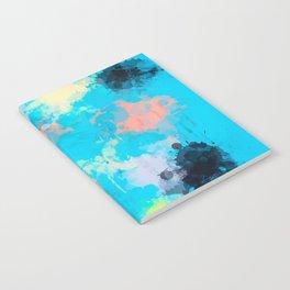 Abstract Paint splatter design Notebook