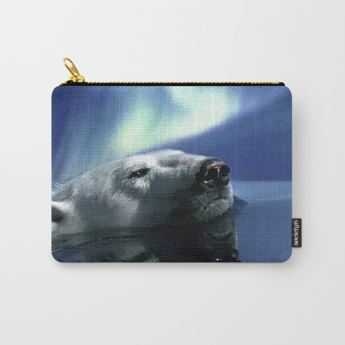 Aurora Dreaming - Swimming Polar Bear Carry-All Pouch