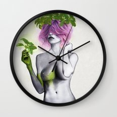 Garden Girls 1 - Basil Wall Clock