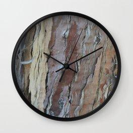 TEXTURES -- Fern-Leaved Ironwood Bark Wall Clock