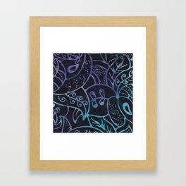 Blue Batik 12 Framed Art Print