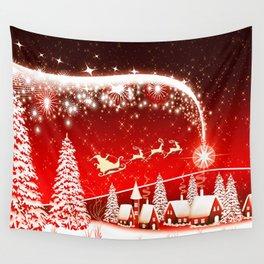 Santa Beautiful Christmas Wall Tapestry